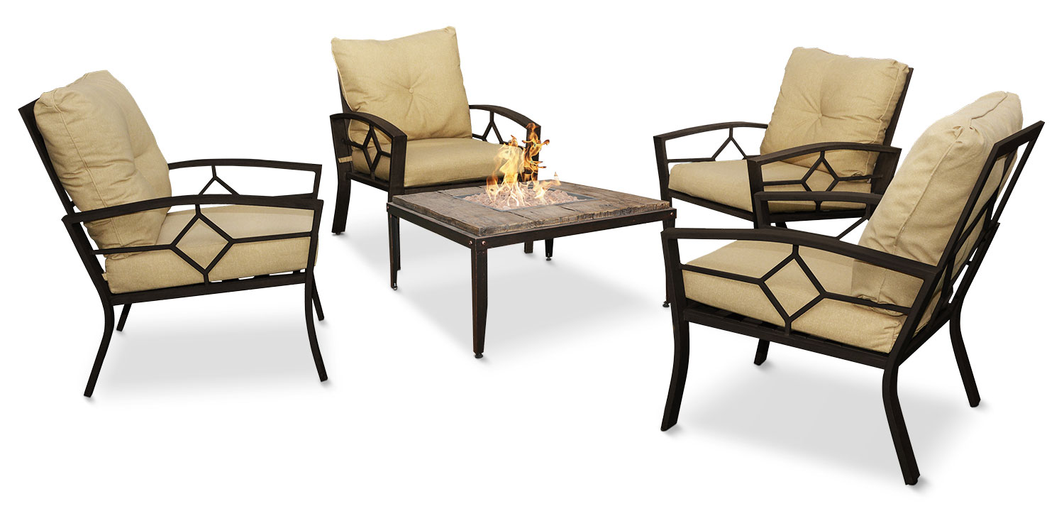 Outdoor Furniture - Belmont 5-Piece Conversation Set