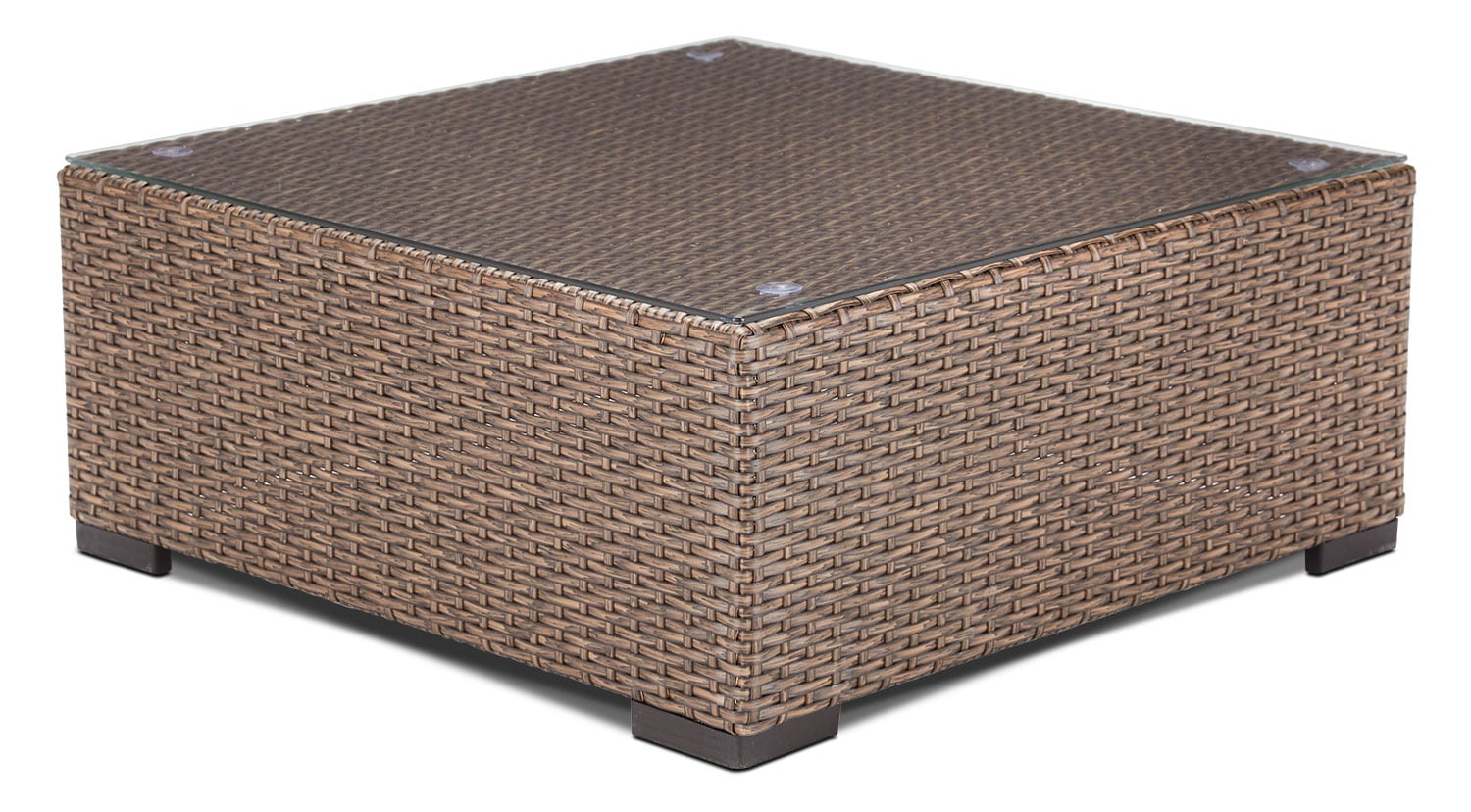 Outdoor Furniture - Caribe Outdoor Coffee Table - Light Brown