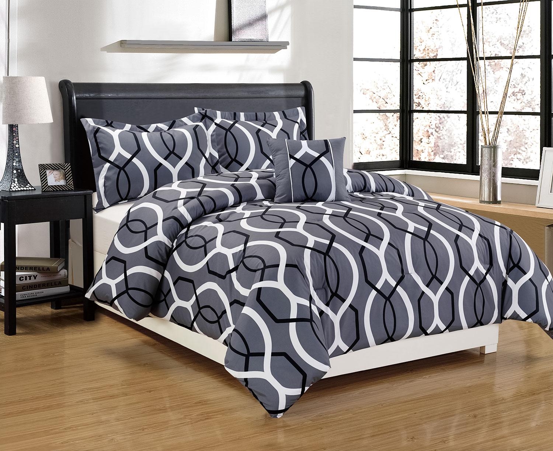 Mattresses and Bedding - Java 4-Piece Queen Comforter Set