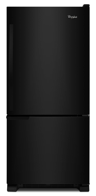 whirlpool 19 cu ft bottom mount refrigerator wrb119wfbb the brick. Black Bedroom Furniture Sets. Home Design Ideas