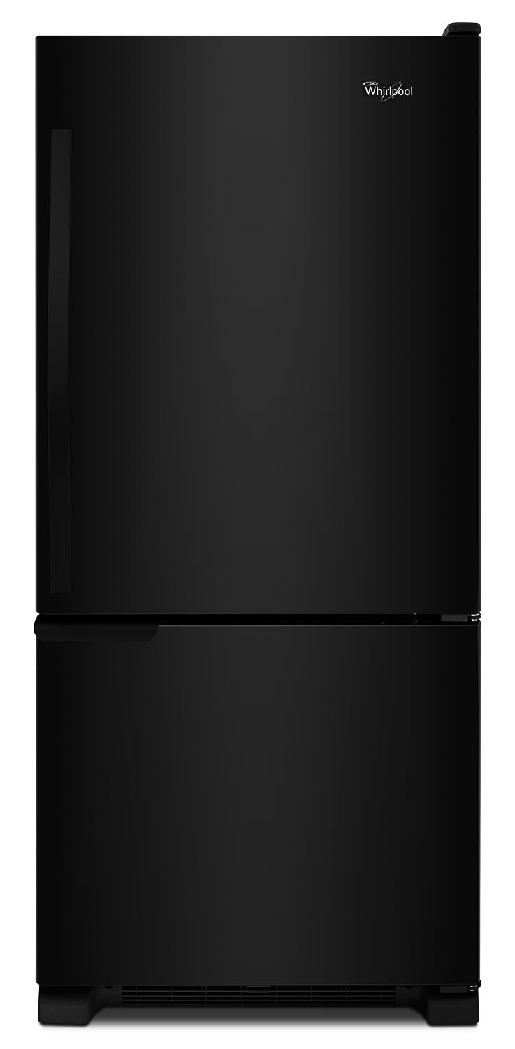 Refrigerators and Freezers - Whirlpool Black Bottom-Freezer Refrigerator (18.7 Cu. Ft.) - WRB119WFBB
