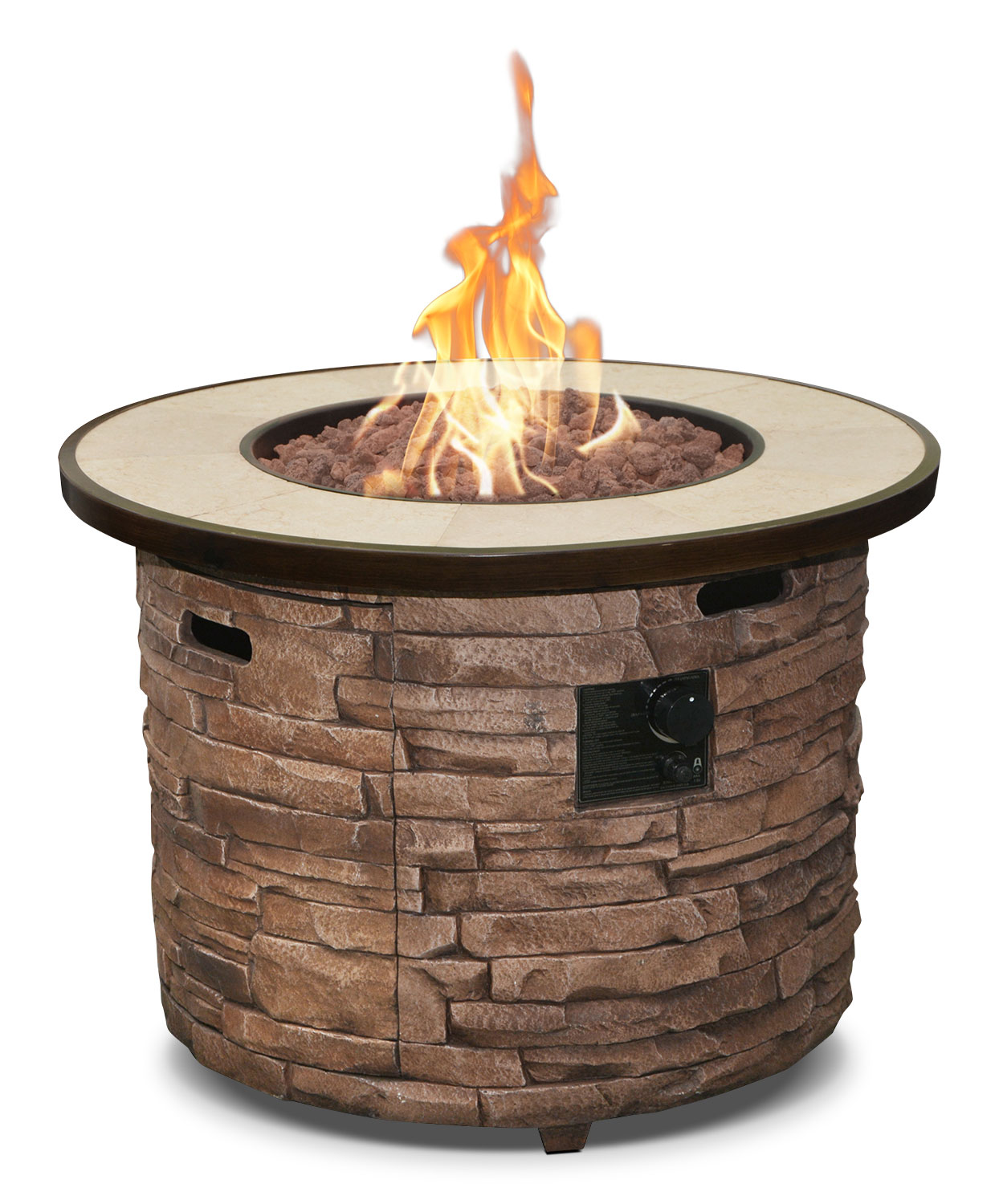 Outdoor Furniture - Boulder Creek 50,000-BTU Fire Table