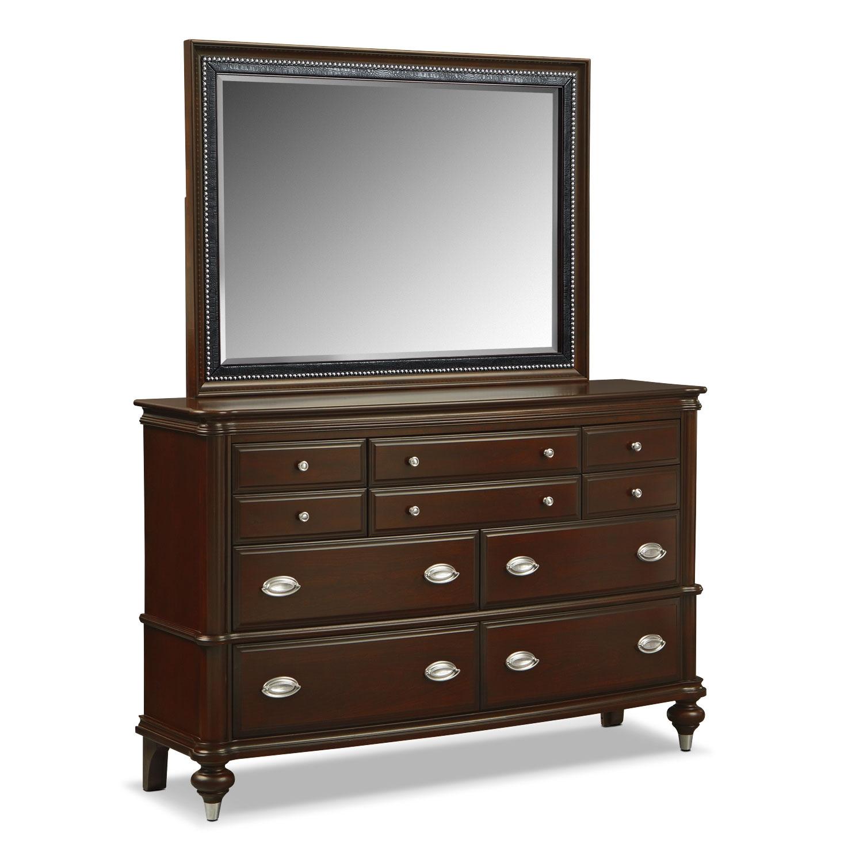 Esquire Nightstand Merlot Value City Furniture