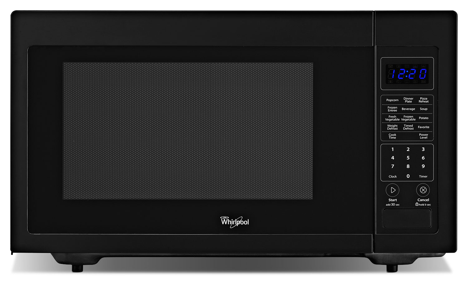 Cooking Products - Whirlpool Black Countertop Microwave (1.6 Cu. Ft.) - YWMC30516DB