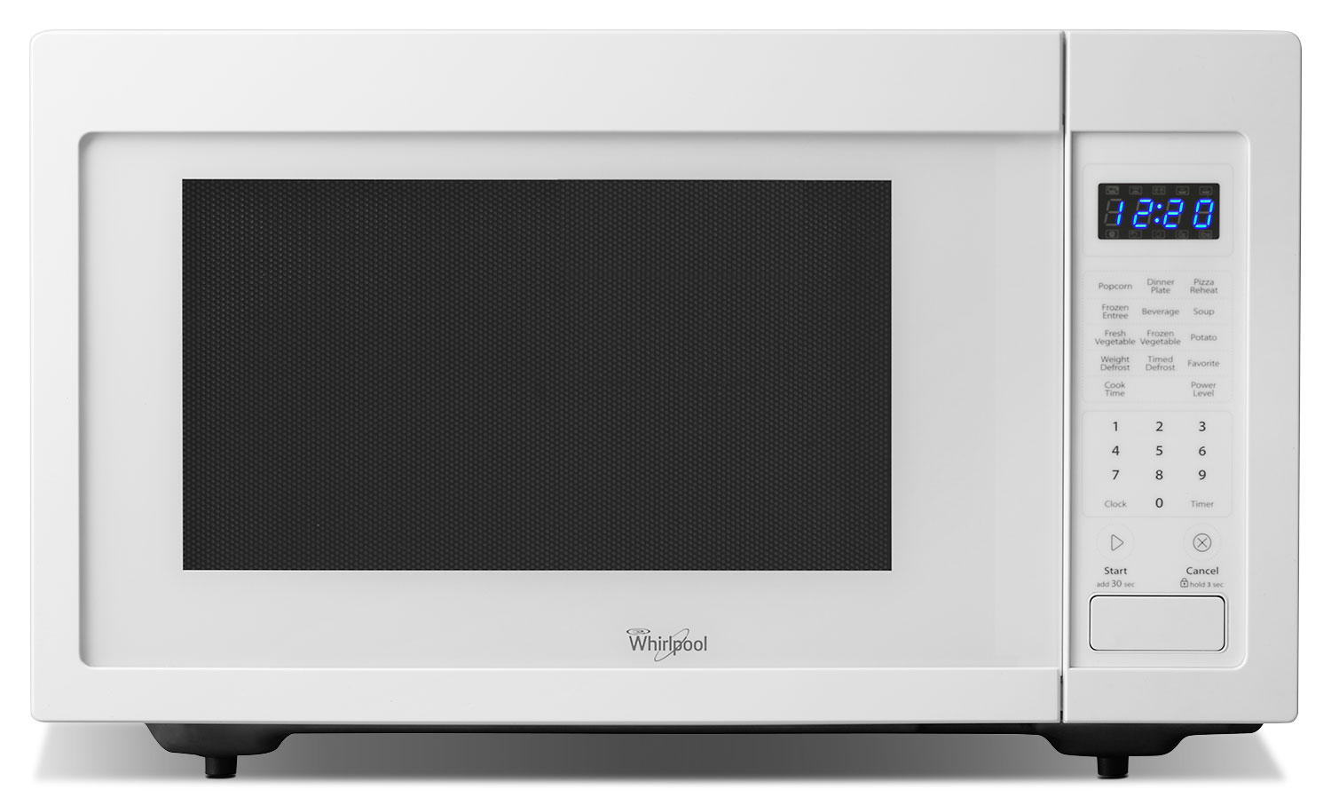 Cooking Products - Whirlpool White Countertop Microwave (1.6 Cu. Ft.) - YWMC30516DW
