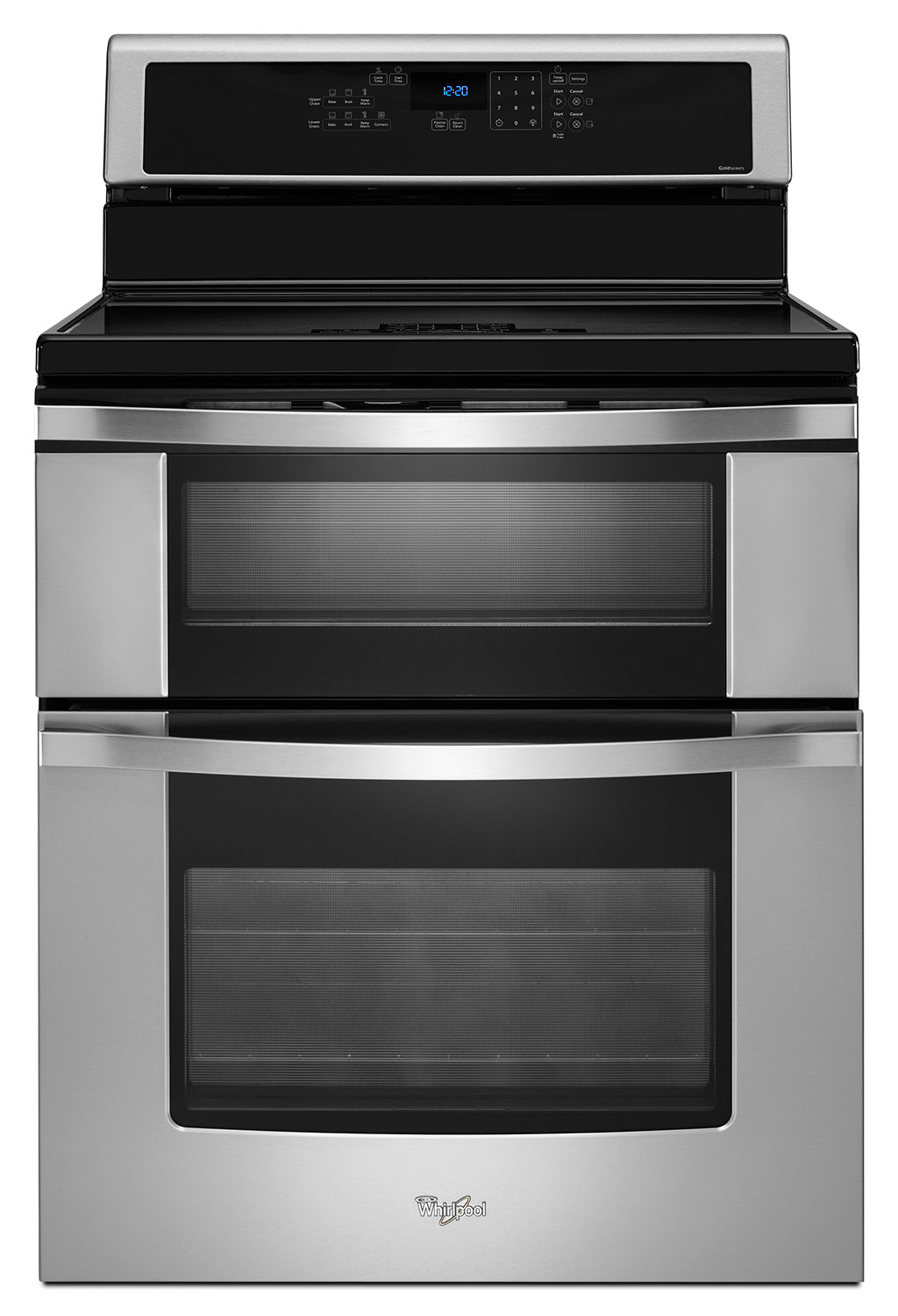 Cooking Products - Whirlpool Stainless Steel Freestanding Electric Double Range (6.7 Cu. Ft.) - YWGI925C0BS