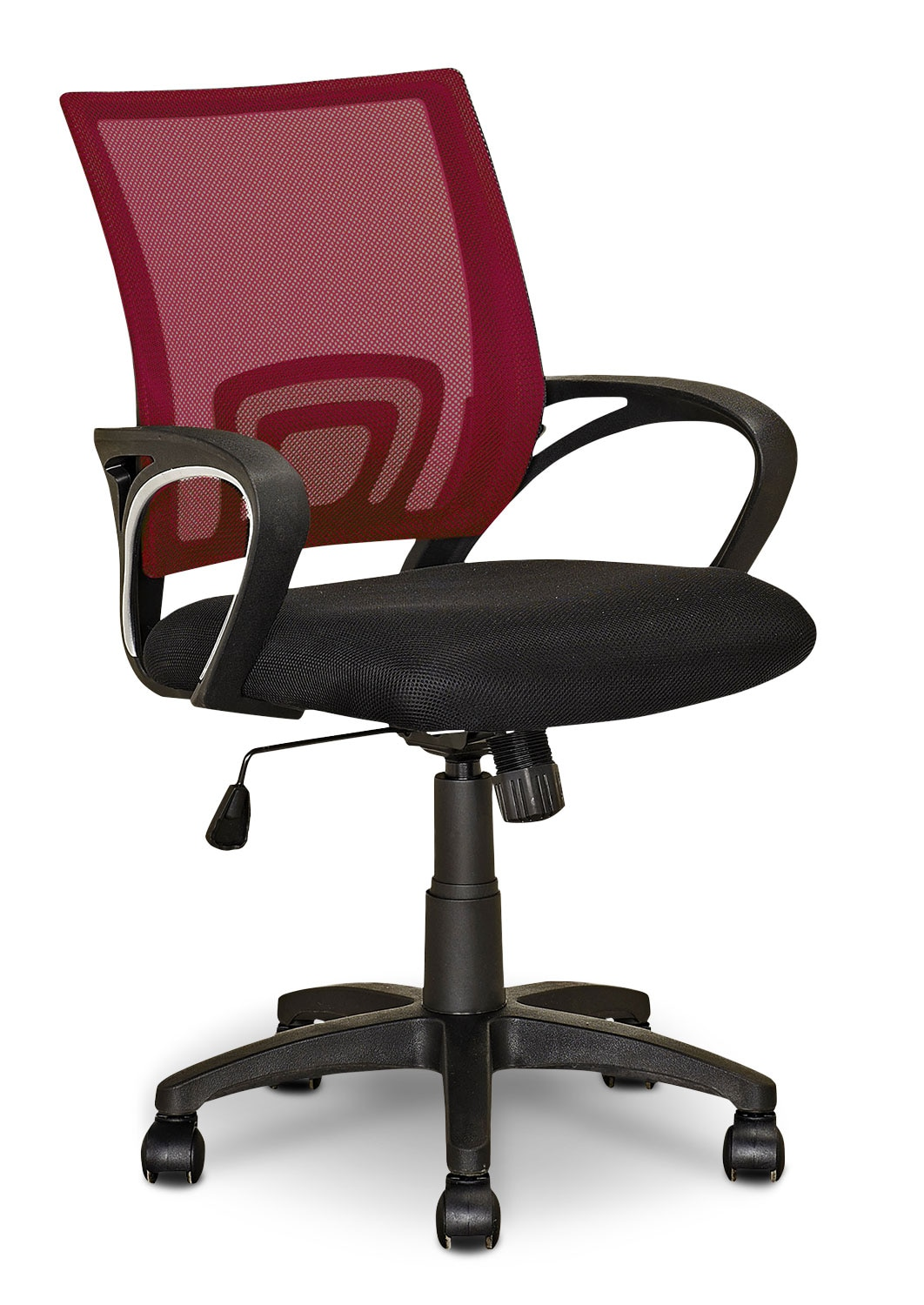 Loft Mesh Office Chair – Dark Red