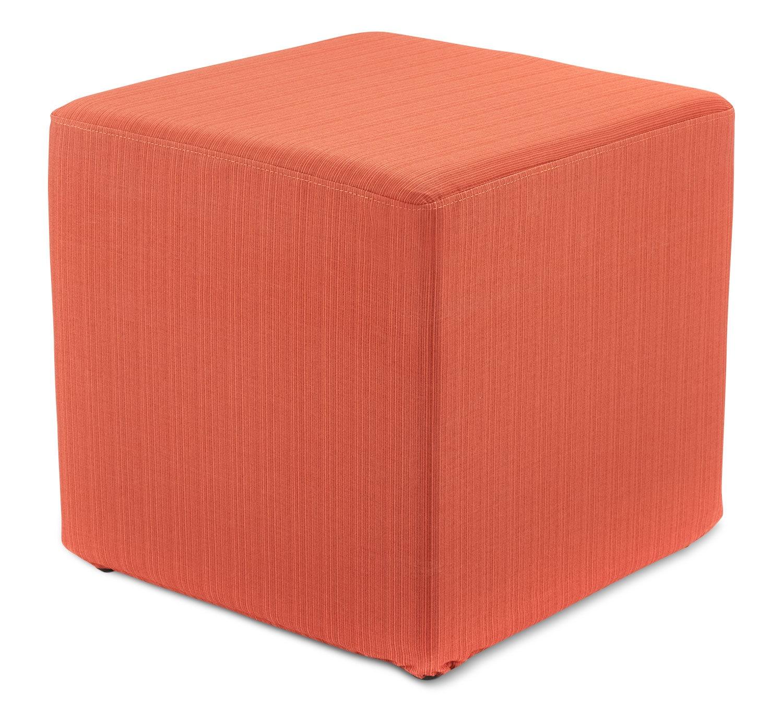 Sasha Outdoor Ottoman - Orange