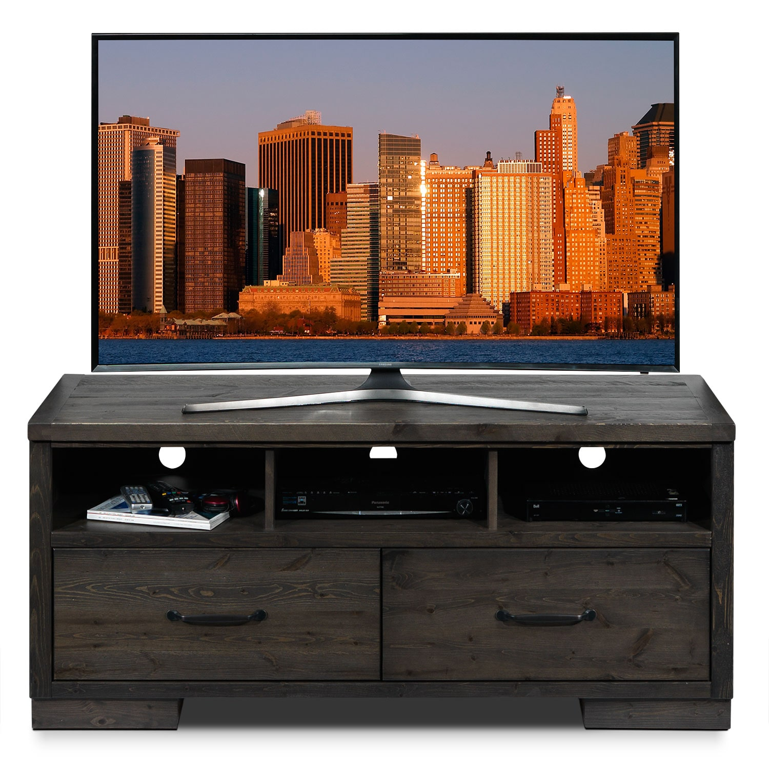 Hayden 3 piece entertainment wall unit slate leon 39 s for Meuble chez leon