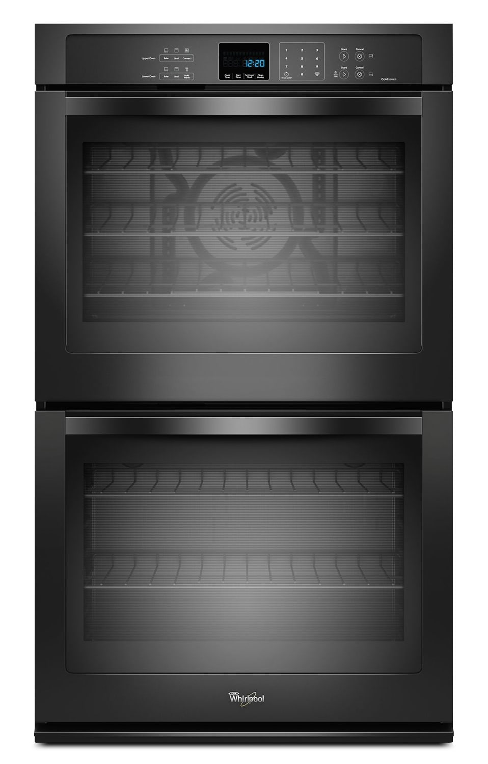 Cooking Products - Whirlpool Black Electric Convection Double Wall Oven (10.0 Cu. Ft.) - WOD93EC0AB