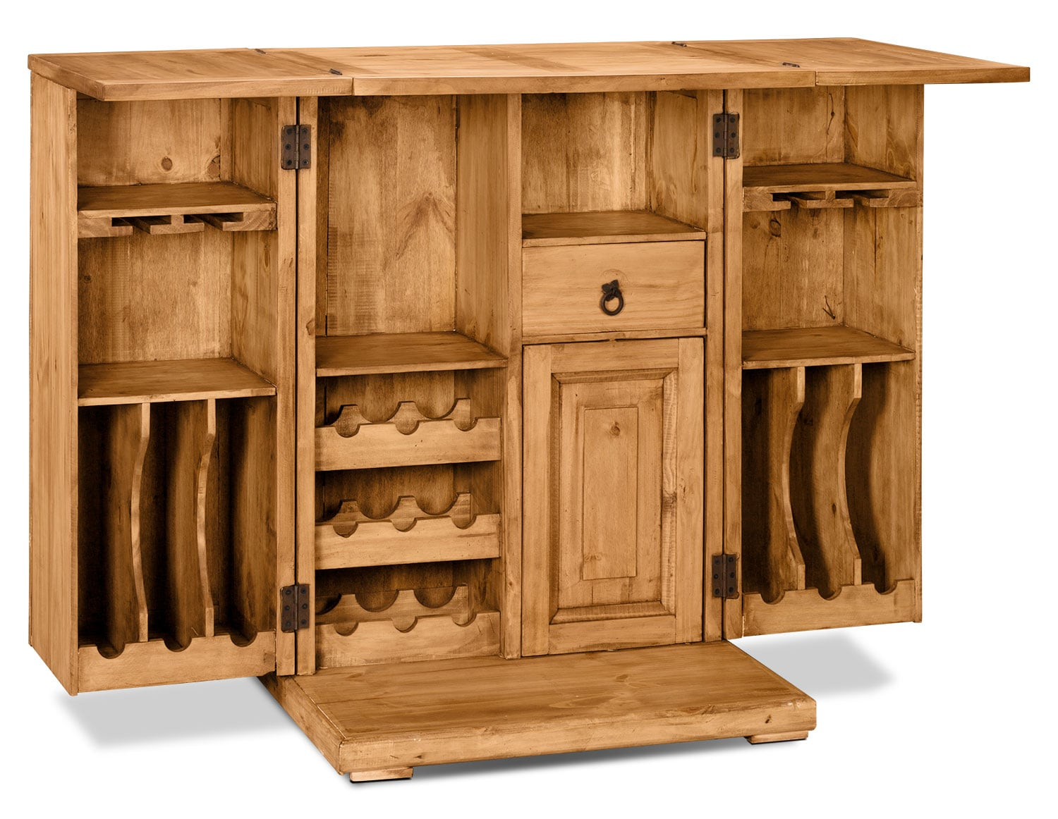 Accent and Occasional Furniture - Santa Fe Rusticos Solid Pine Unfolding Bar