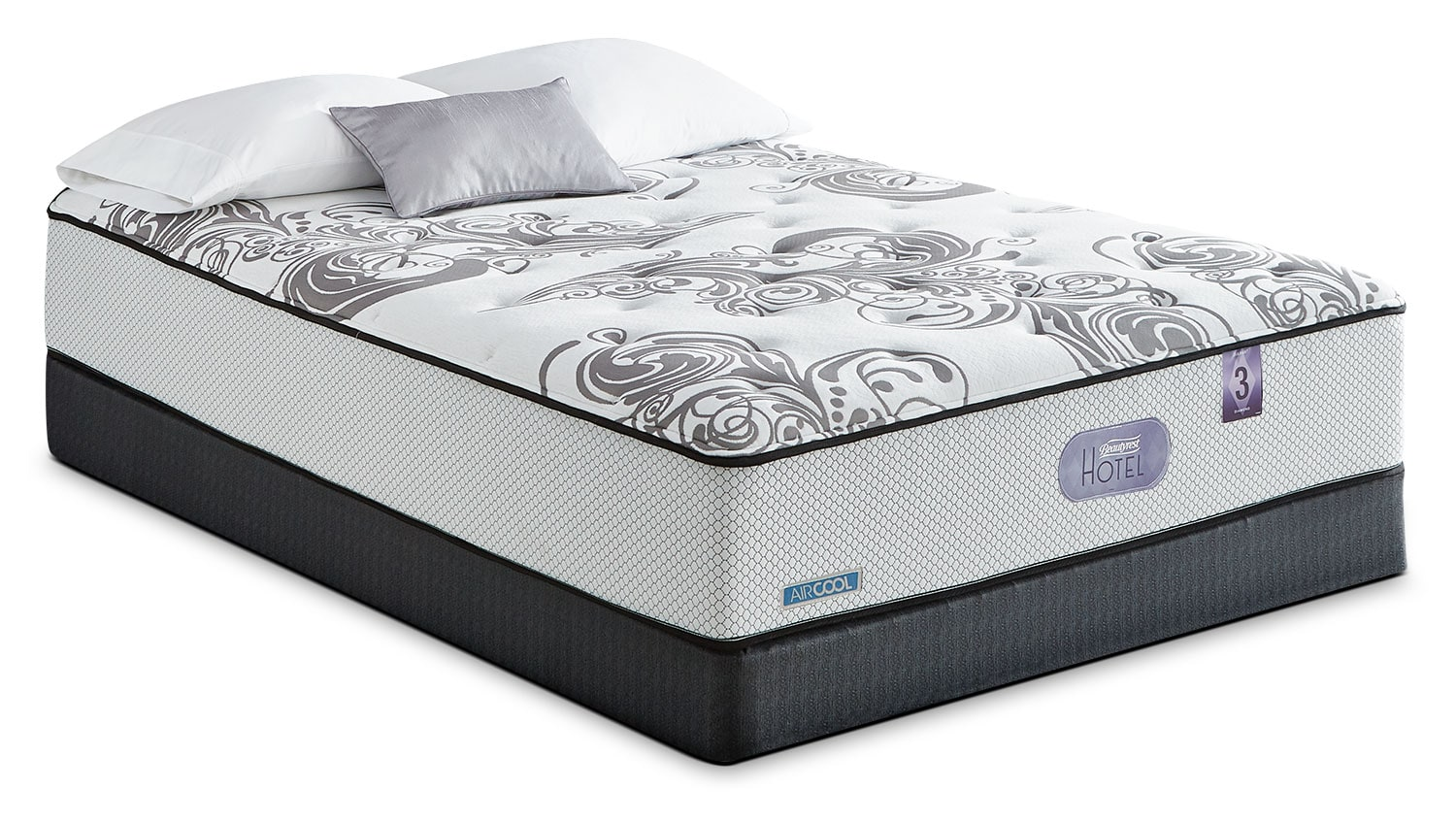 Mattresses and Bedding - Simmons Beautyrest® Hotel Diamond 3.0 Tight-Top Firm Queen Mattress Set