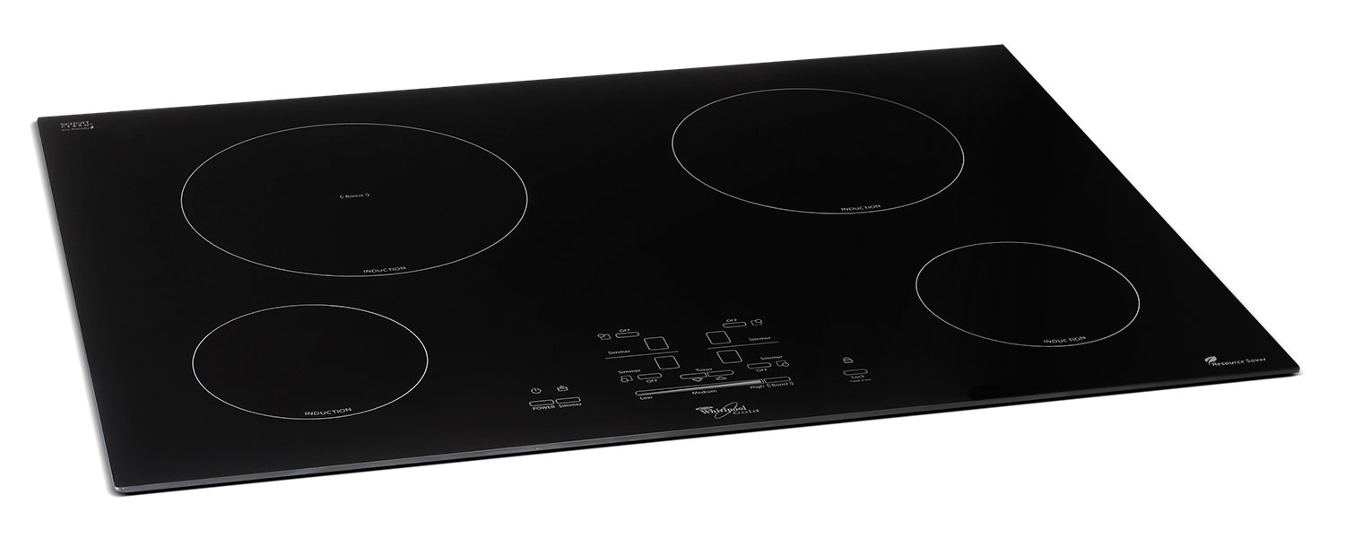"Cooking Products - Whirlpool Black 30"" Electric Induction Cooktop - GCI3061XB"