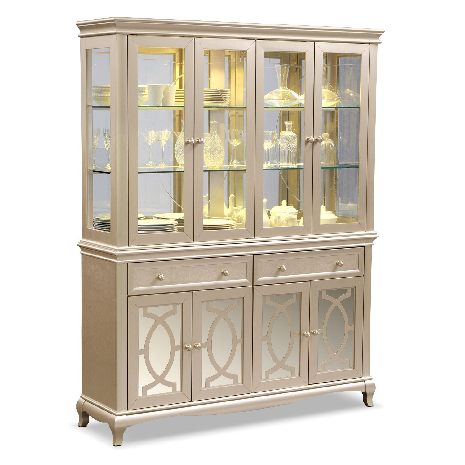 Dining Room Hutch Buffet: Allegro Buffet And Hutch - Platinum