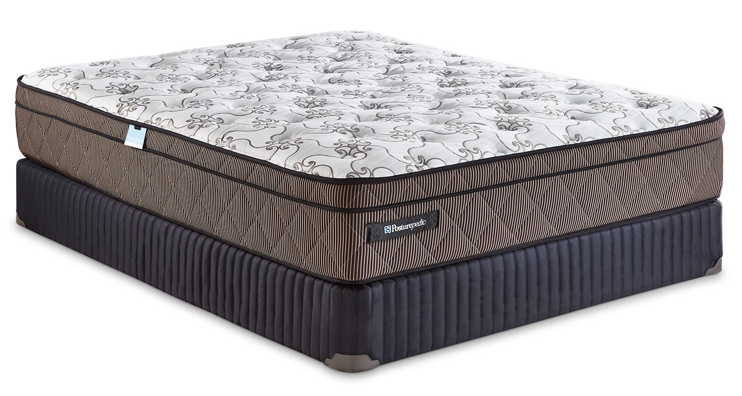 Mattresses and Bedding - Sealy Posturepedic Crown Jewel Raybeck Euro-Top Low-Profile Split Queen Mattress Set