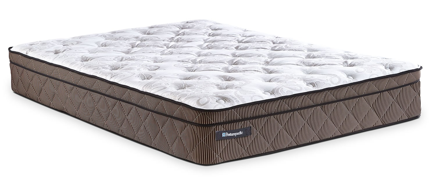 Mattresses and Bedding - Sealy Posturepedic Crown Jewel Riverfront Euro-Top Queen Mattress