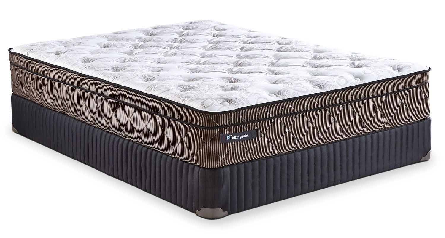 Mattresses and Bedding - Sealy Posturepedic Crown Jewel Riverfront Euro-Top Low-Profile Split Queen Mattress Set