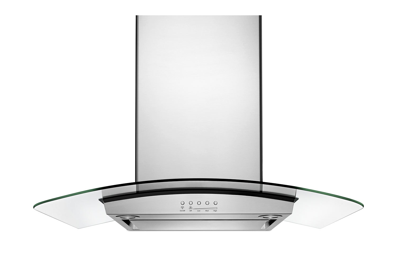 "Cooking Products - Whirlpool Stainless Steel/Glass 36"" 400 CFM Wall-Mount Range Hood - WVW75UC6DS"