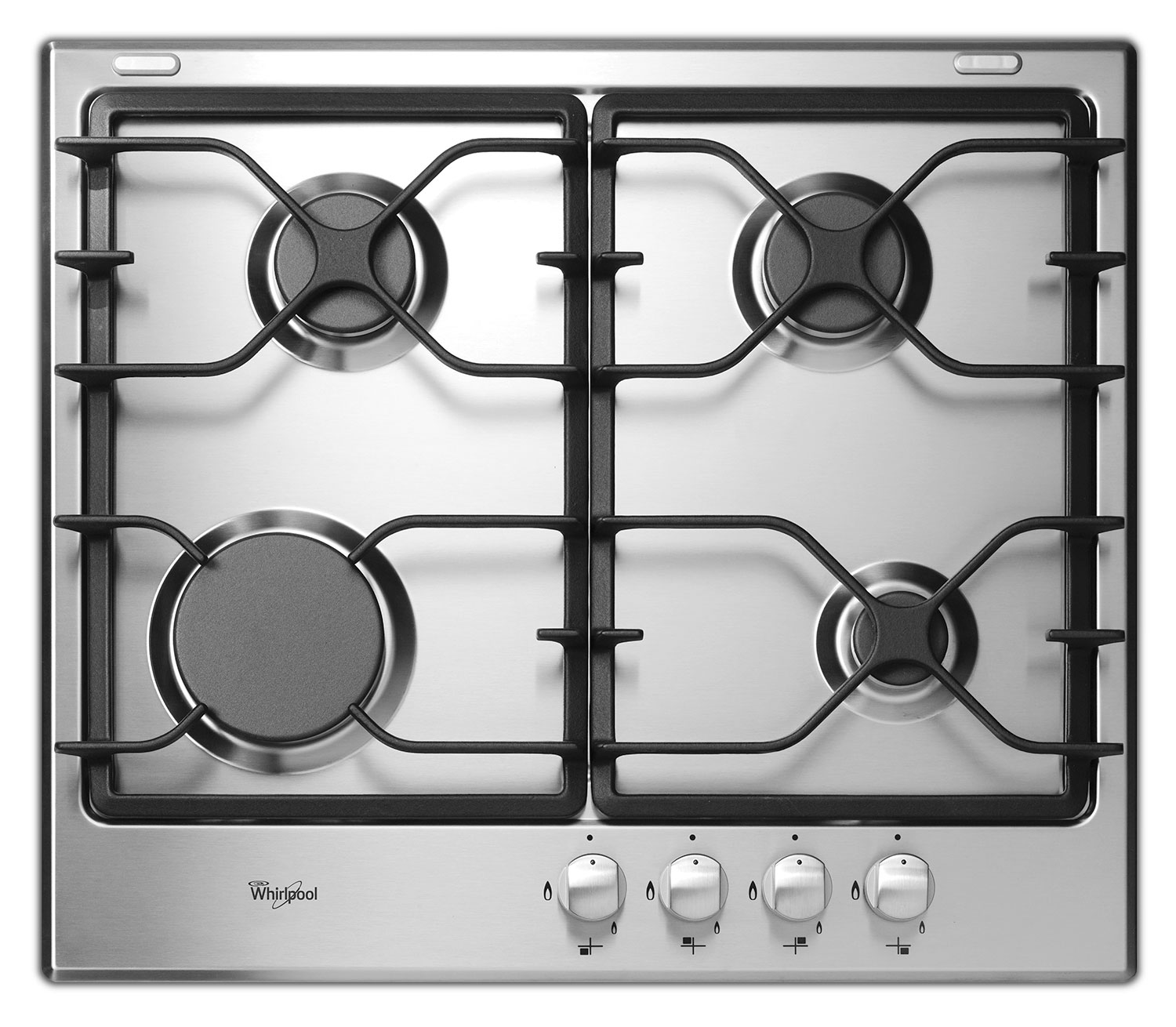 "Cooking Products - Whirlpool Stainless Steel 24"" Gas Cooktop - WCG52424AS"