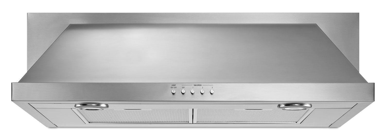 "Whirlpool 36"" Convertible Under-the-Cabinet Range Hood – UXT5536AAS"