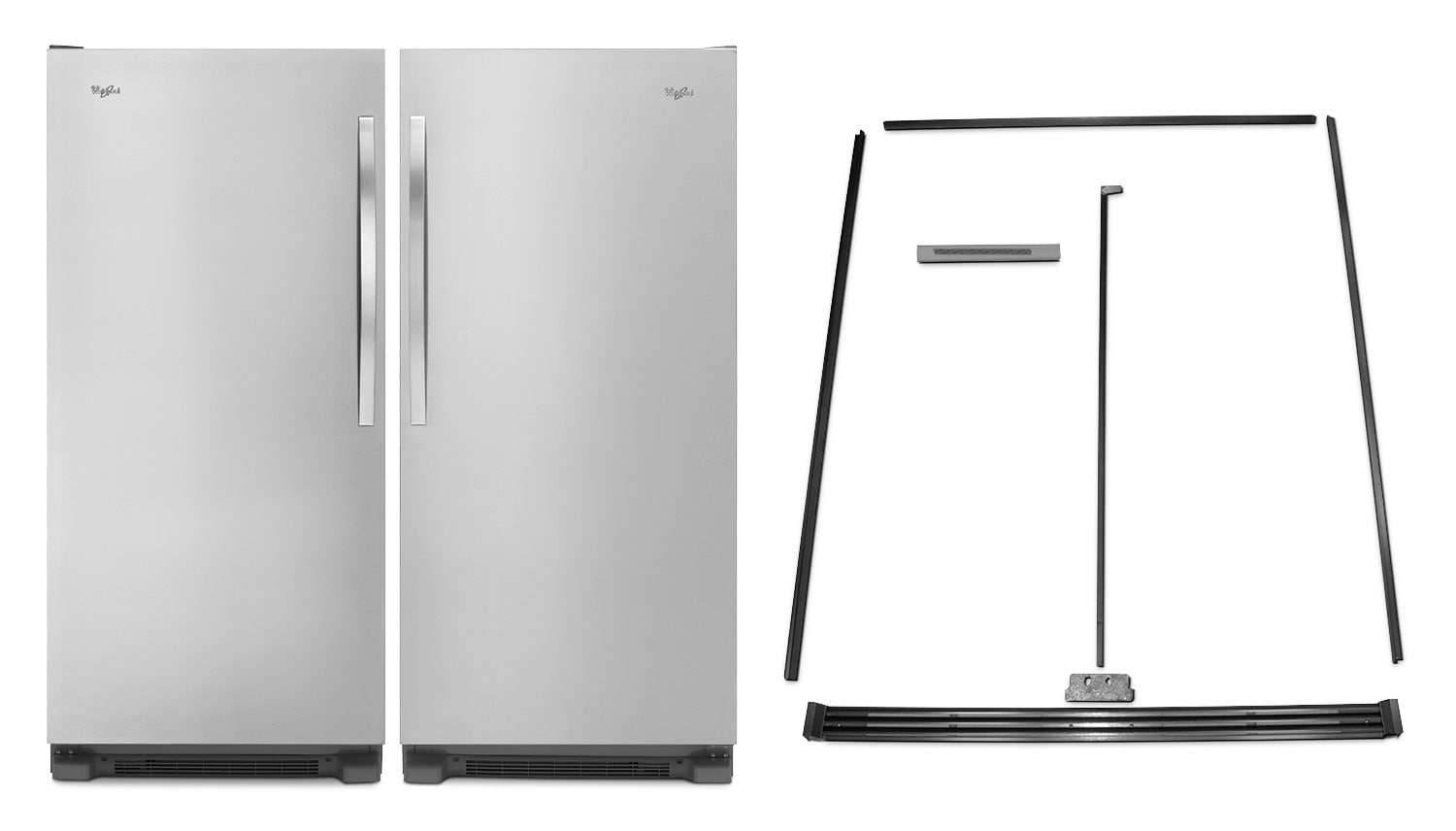 Whirlpool SideKicks® 18 Cu. Ft. All-Refrigerator, 18 Cu. Ft. All-Freezer and Trim Kit