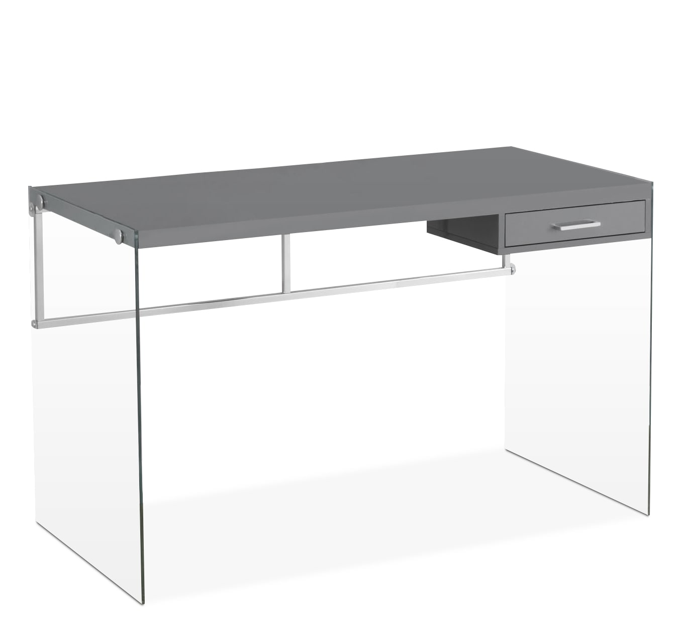 Essex Computer Desk – Glossy Grey