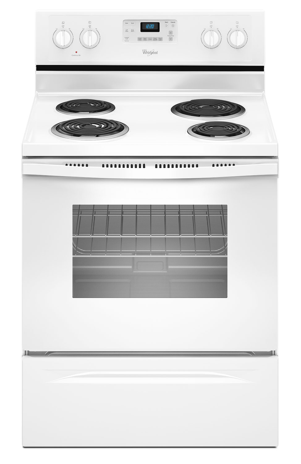 Cooking Products - Whirlpool White Freestanding Electric Range (4.8 Cu. Ft.) - YWFC310S0EW