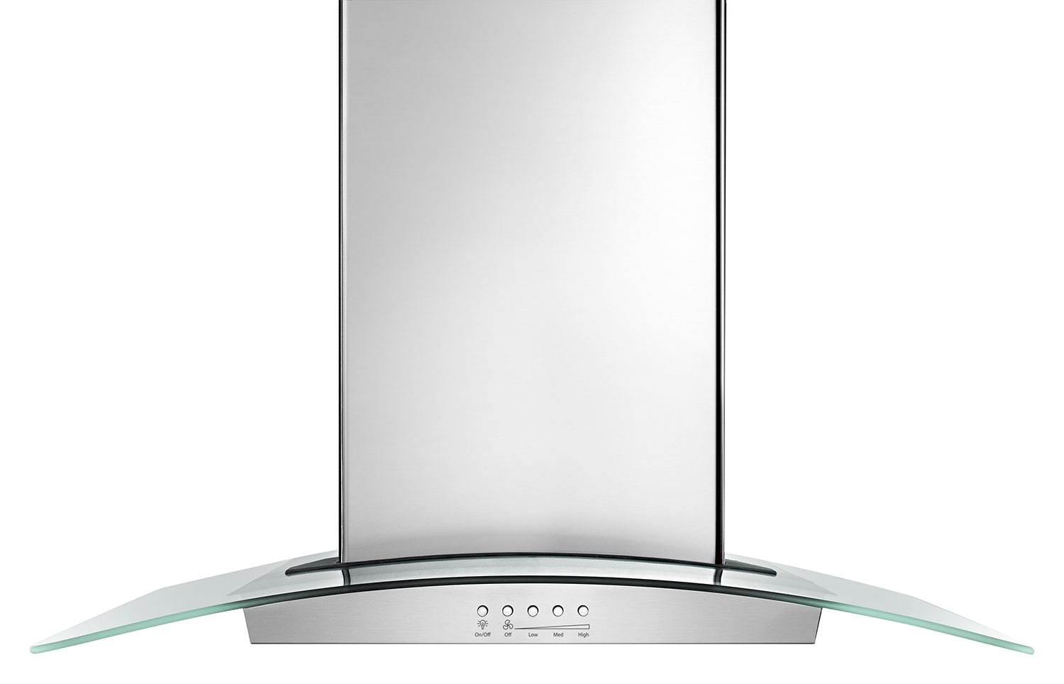 "Cooking Products - Whirlpool Stainless Steel/Glass 36"" 400 CFM Island Range Hood - WVI75UC6DS"