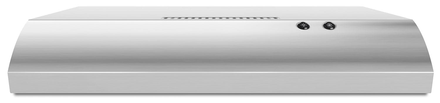 "Cooking Products - Whirlpool Stainless Steel 30"" 190 CFM Range Hood w/ Recirculating Option - UXT4130ADS"