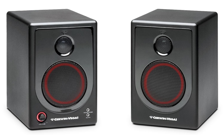 """Cerwin-Vega 4"""" 2-Way Powered Desktop Speakers - XD4"""