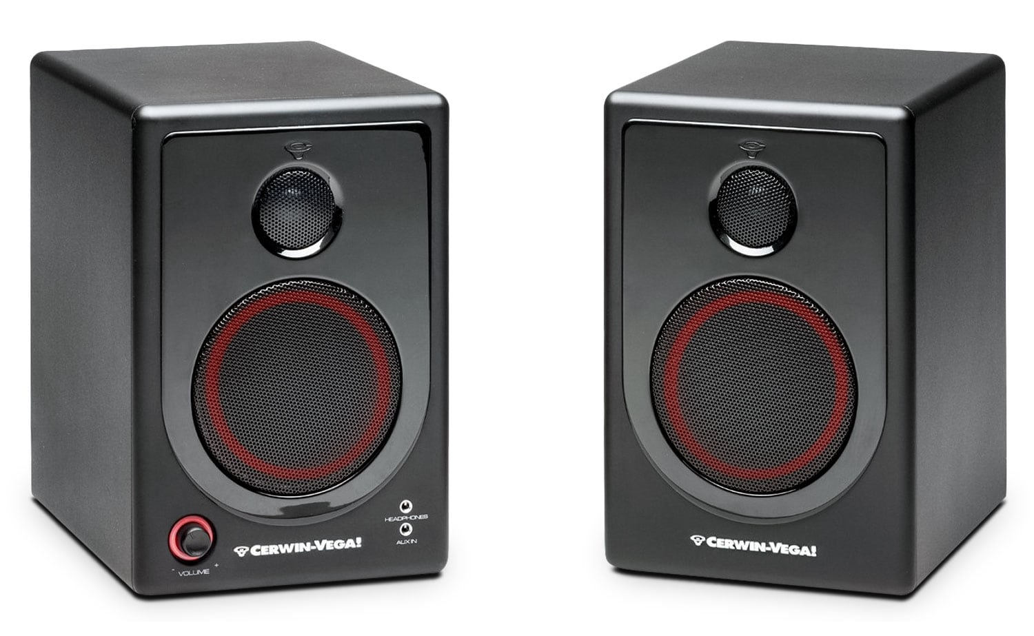 "Sound Systems - Cerwin-Vega 4"" 2-Way Powered Desktop Speakers - XD4"