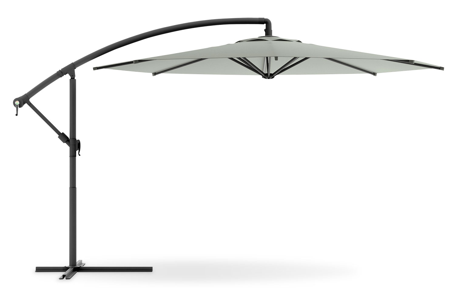 Outdoor Furniture - Perry Offset Umbrella - Sand Grey