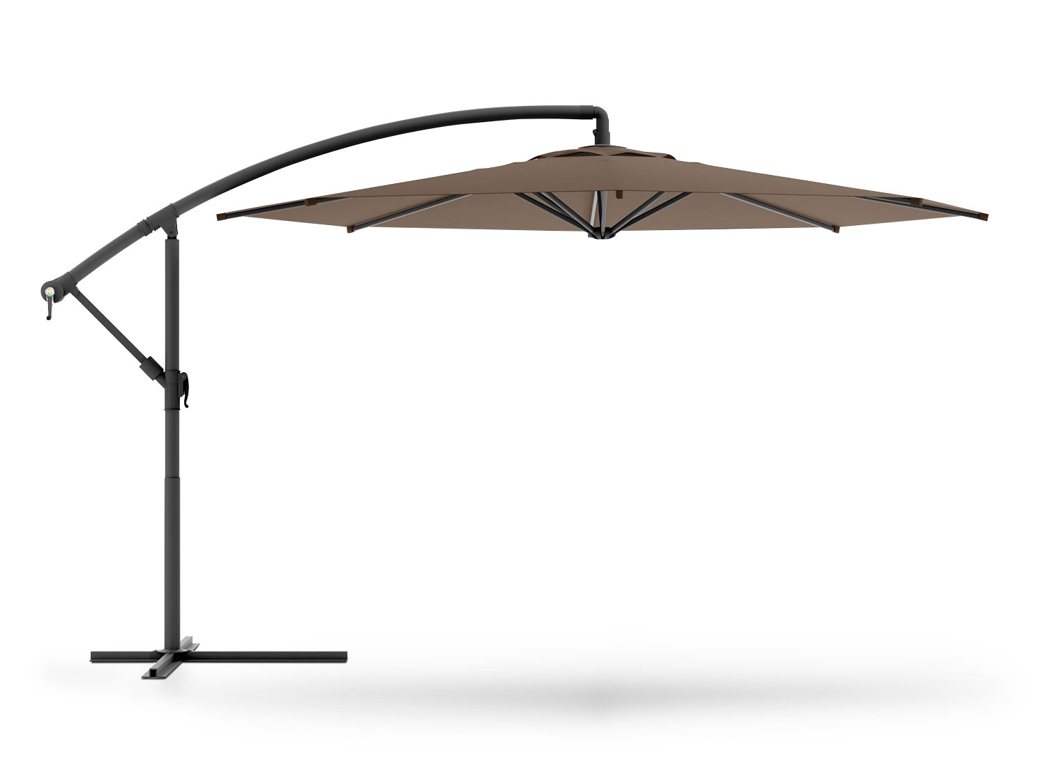Outdoor Furniture - Perry Offset Umbrella - Sandy Brown