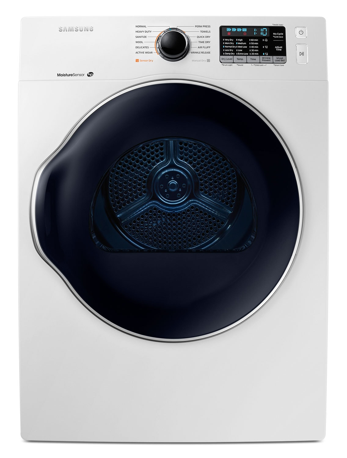 Washers and Dryers - Samsung White Front-Load Electric Dryer (4.0 Cu. Ft.) - DV22K6800EW/AC