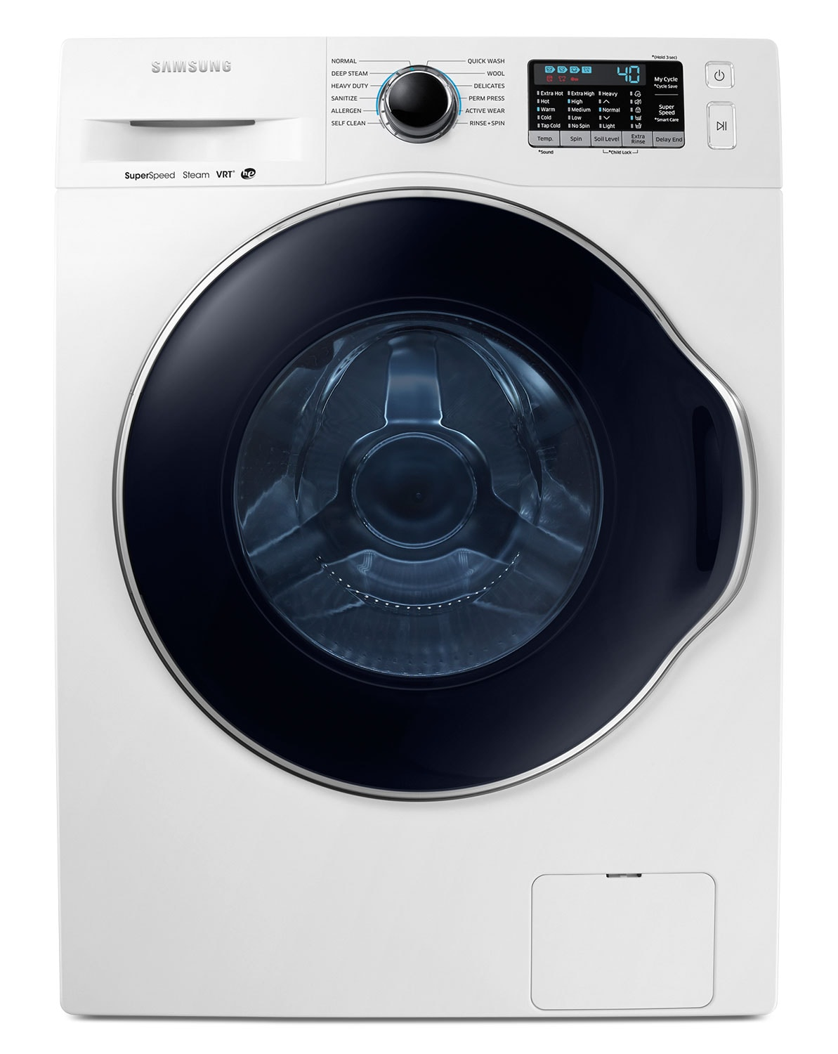 Washers and Dryers - Samsung White Front-Load Washer (2.6 Cu. Ft. IEC) - WW22K6800AW/A2