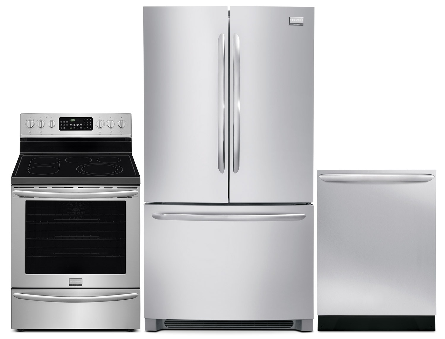 Frigidaire Gallery 27.8 Cu. Ft. Refrigerator, 5.8 Cu. Ft. Electric Range and Built-In Dishwasher