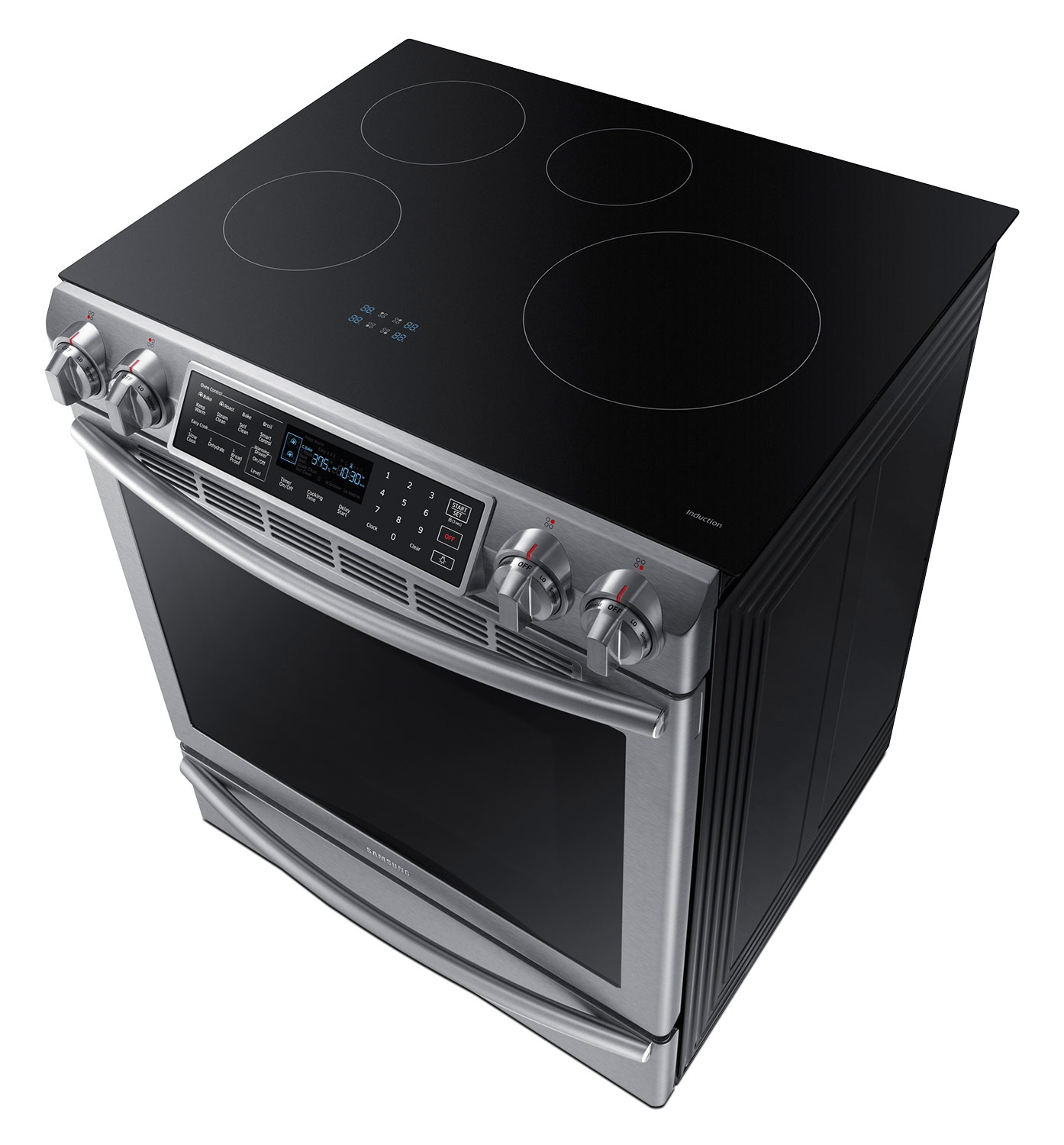 Samsung slide in stainless steel induction range 5 8 cu Samsung induction range
