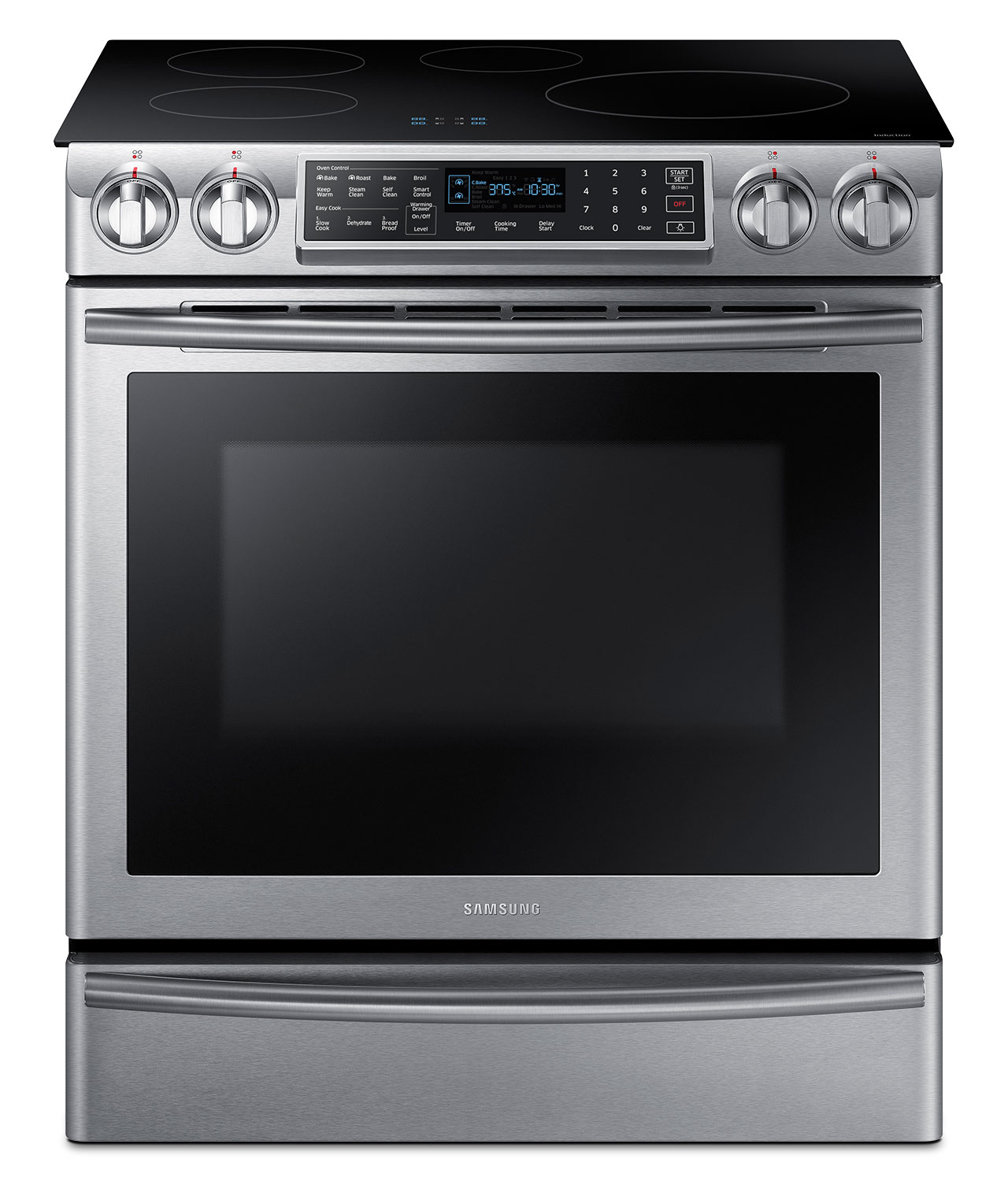 Samsung Slide-In Stainless Steel Induction Range (5.8 Cu. Ft.) - NE58K9560WS/AC