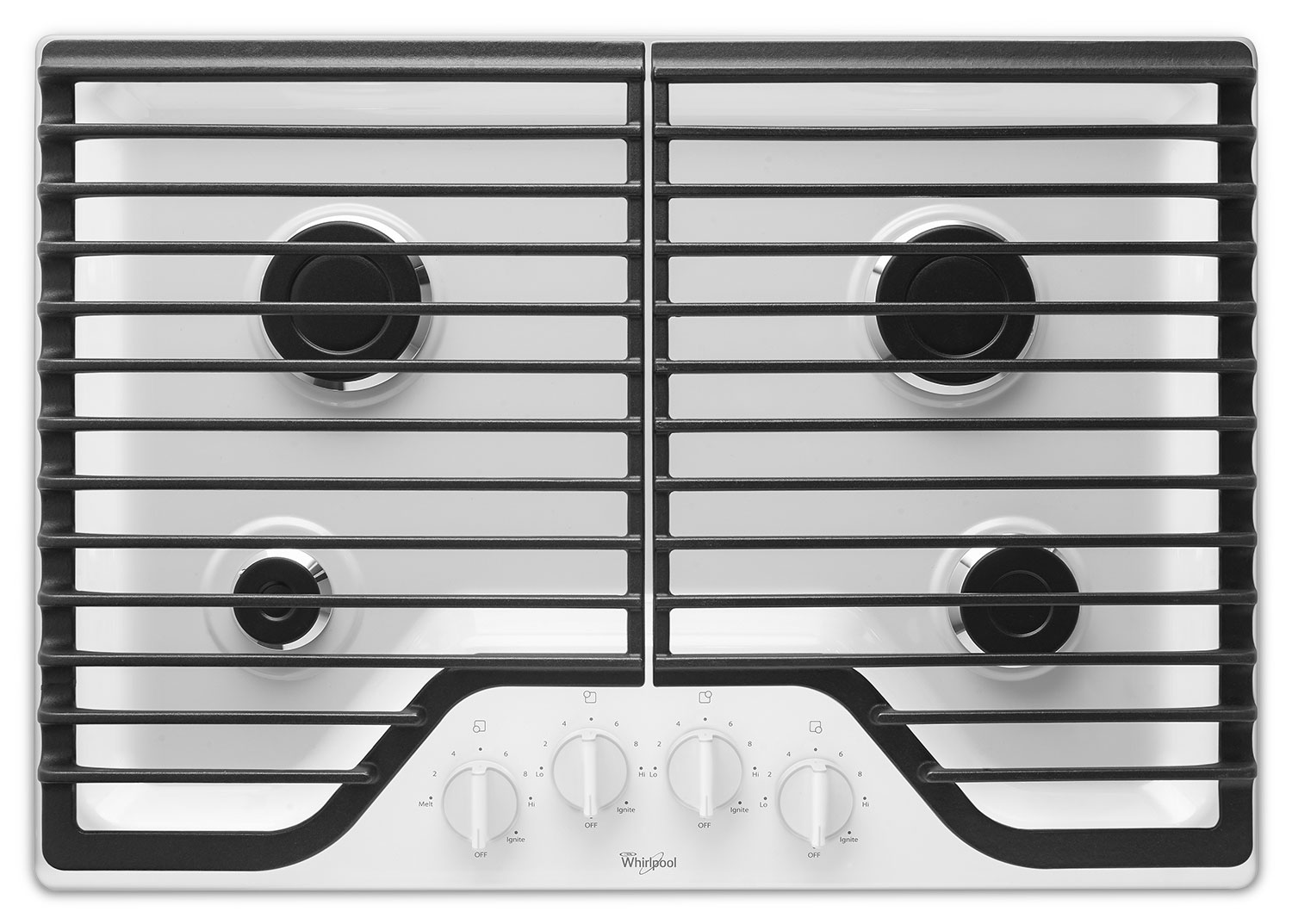 """Whirlpool White 30"""" Gas Cooktop - WCG51US0DW"""
