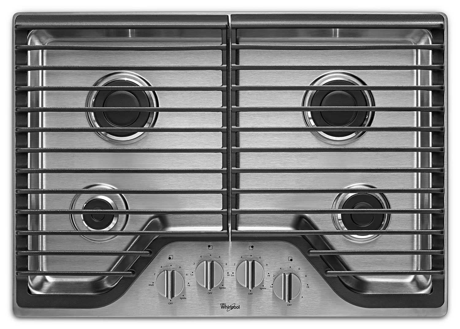 "Cooking Products - Whirlpool Stainless Steel 30"" Gas Cooktop - WCG51US0DS"
