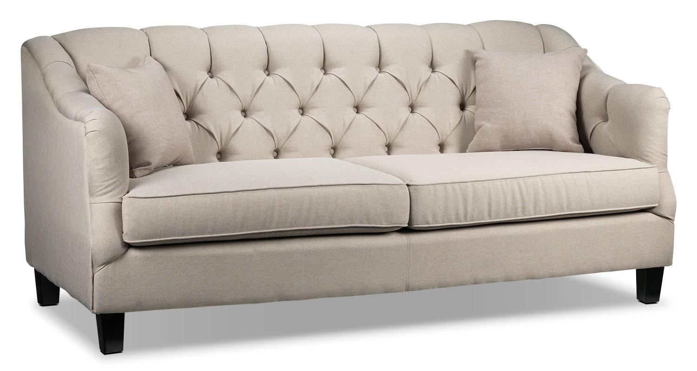 Living Room Furniture - Auden Sofa - Beige