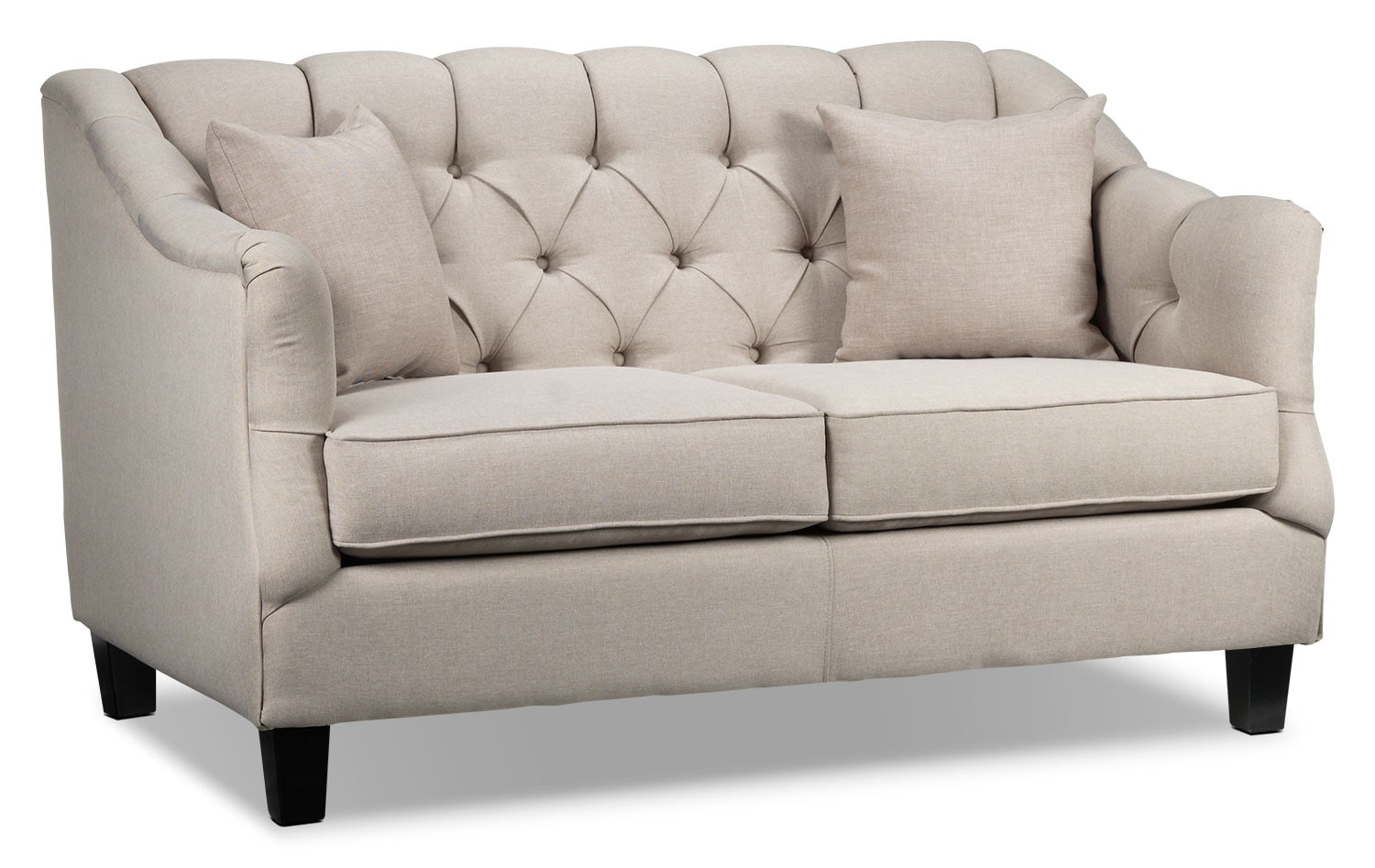 Living Room Furniture - Auden Loveseat - Beige