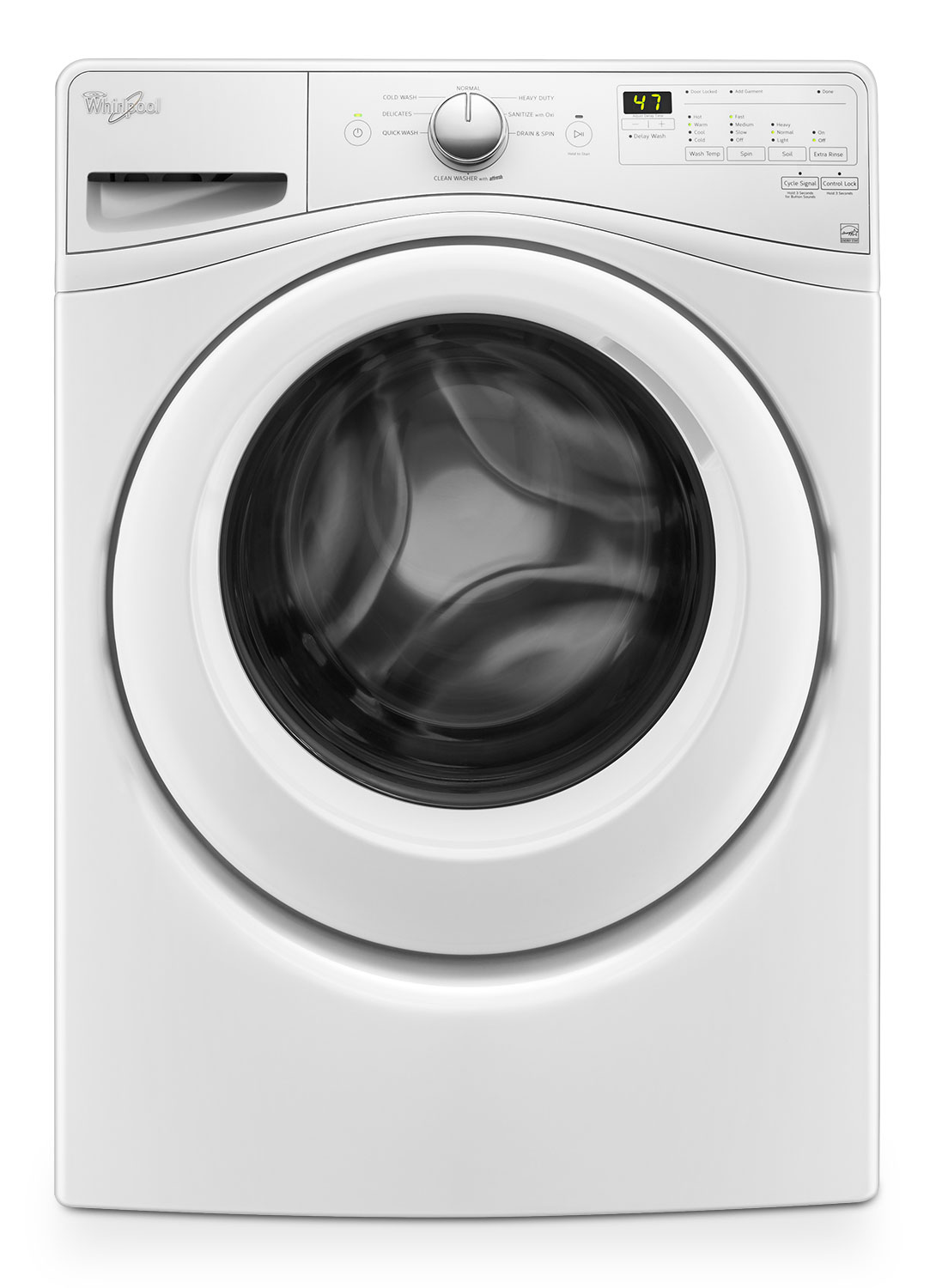 Whirlpool White Front-Load Washer (5.2 Cu. Ft.) - WFW75HEFW
