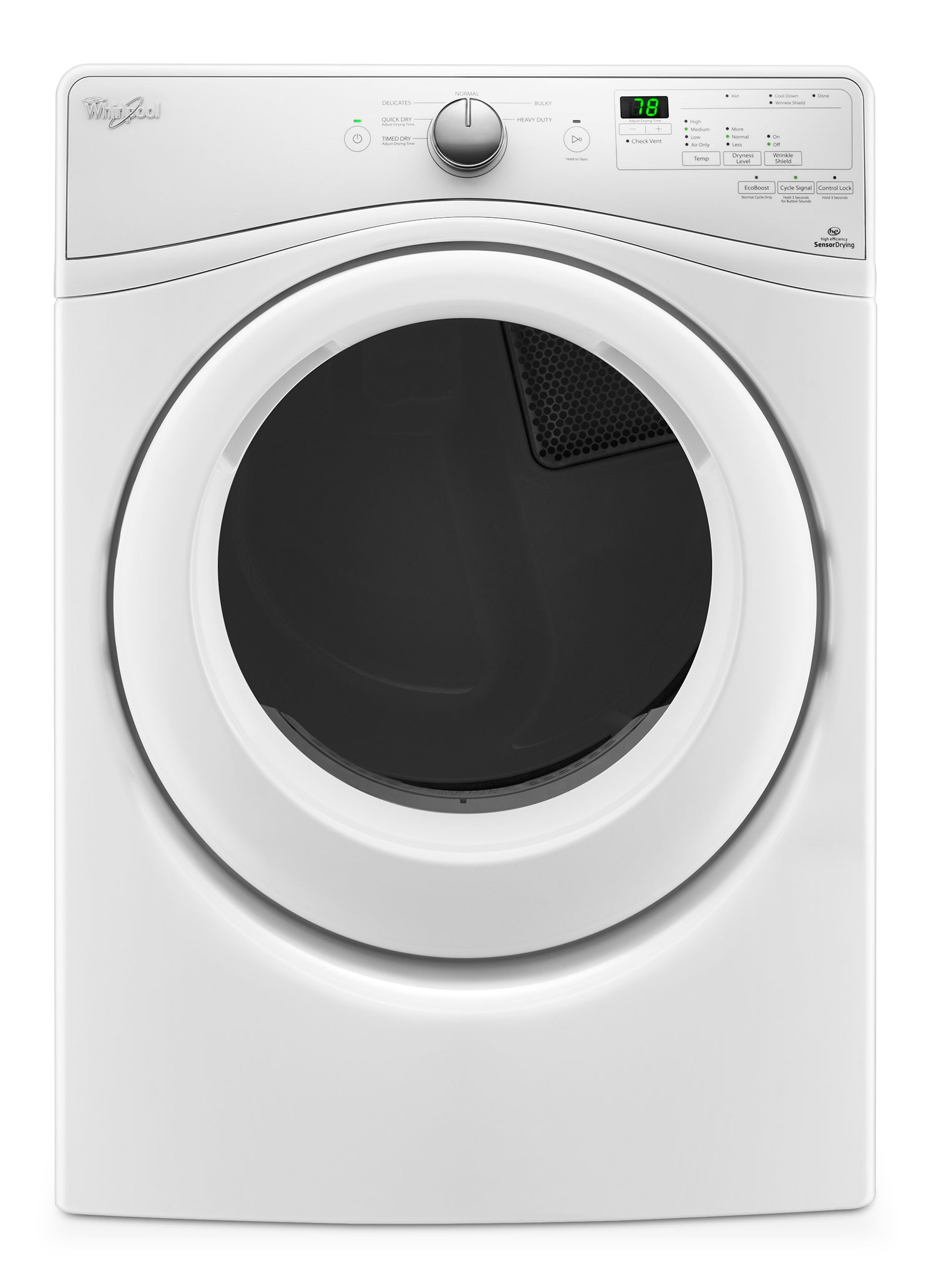 Whirlpool 7 4 cu ft electric dryer ywed75hefw the brick for Whirlpool washer motor price