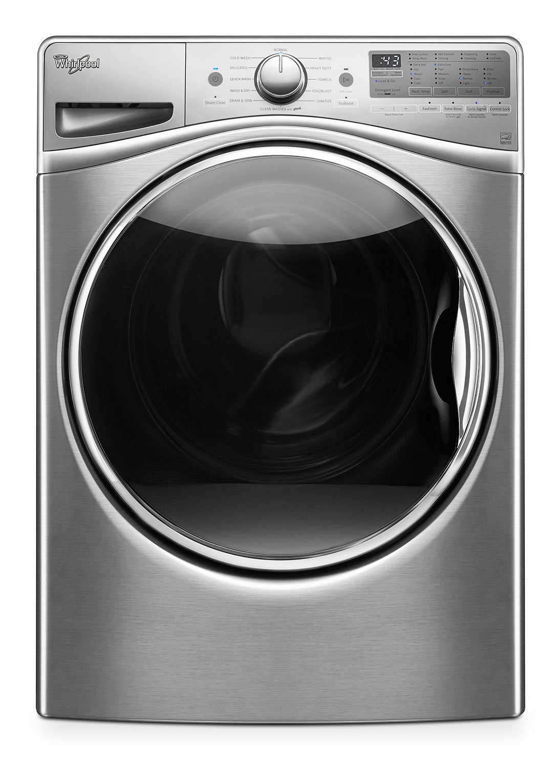Washers and Dryers - Whirlpool Diamond Steel Front-Load Washer (5.2 Cu. Ft.IEC) - WFW92HEFU