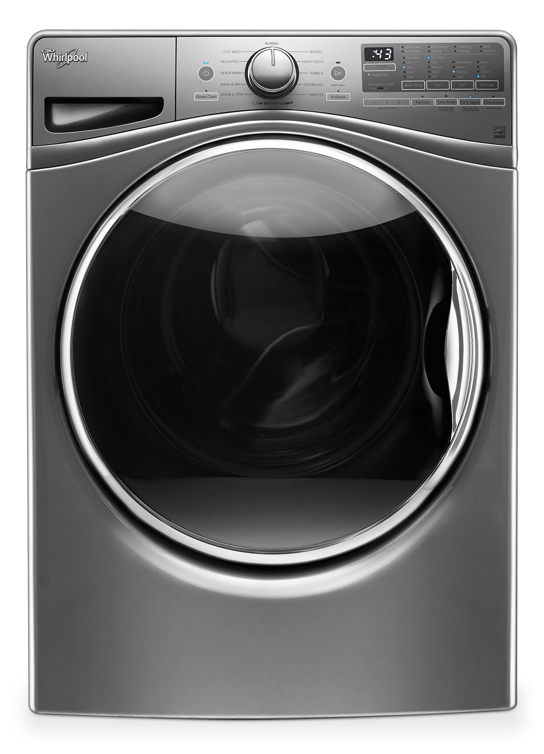 Washers and Dryers - Whirlpool Chrome Shadow Front-Load Washer (5.2 Cu. Ft. IEC) - WFW92HEFC