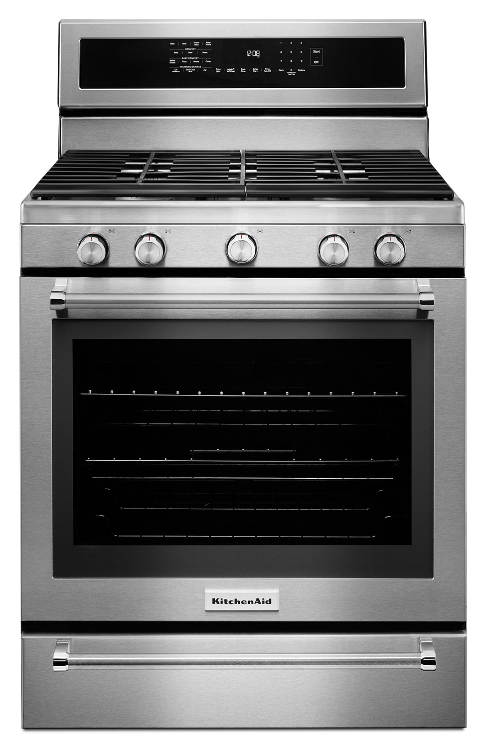 Cooking Products - KitchenAid Freestanding Stainless Steel True Convection Gas Range (5.8 Cu. Ft.) - KFGS530ESS