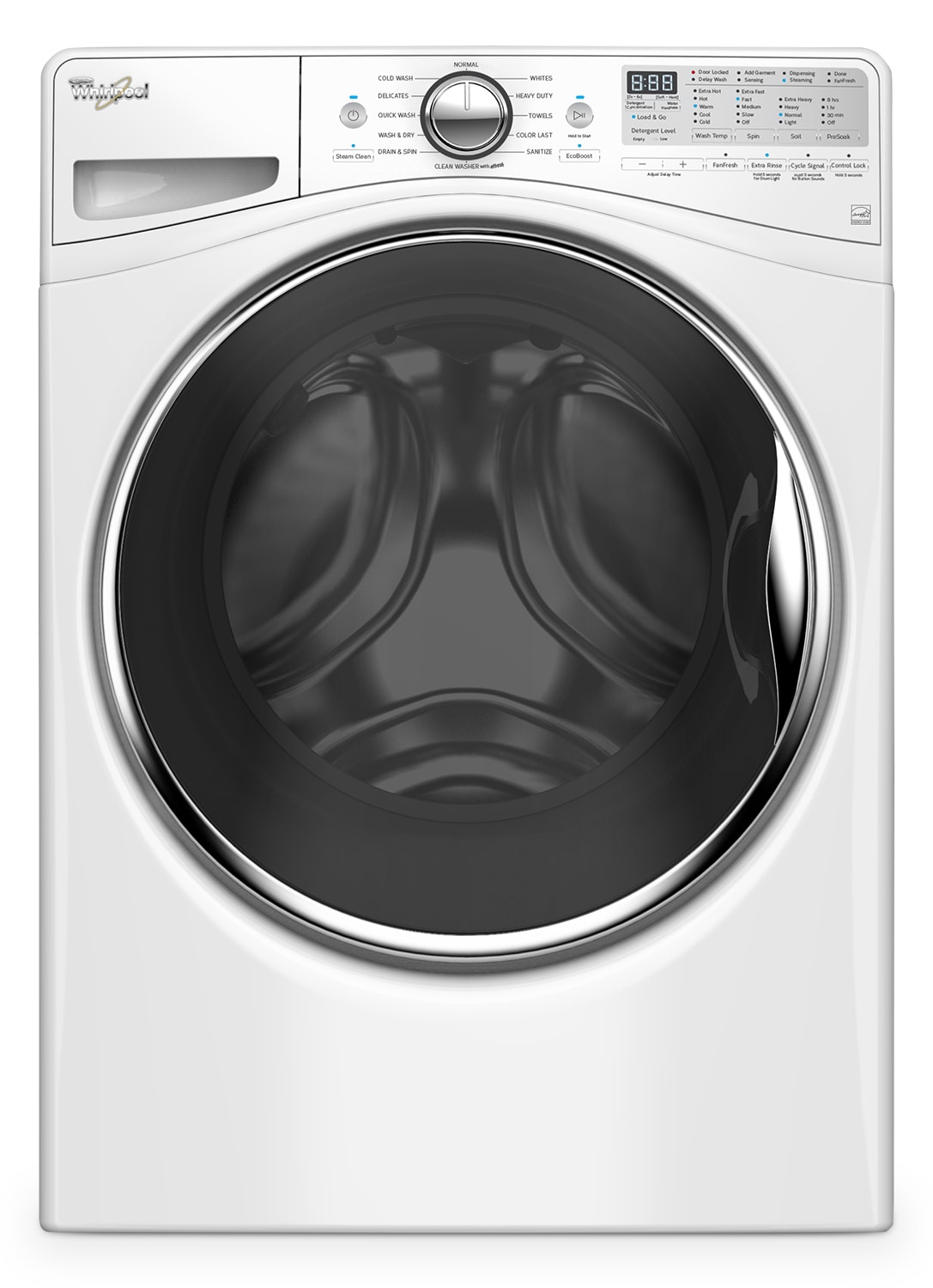 Washers and Dryers - Whirlpool White Front-Load Washer (5.2 Cu. Ft. IEC) - WFW92HEFW