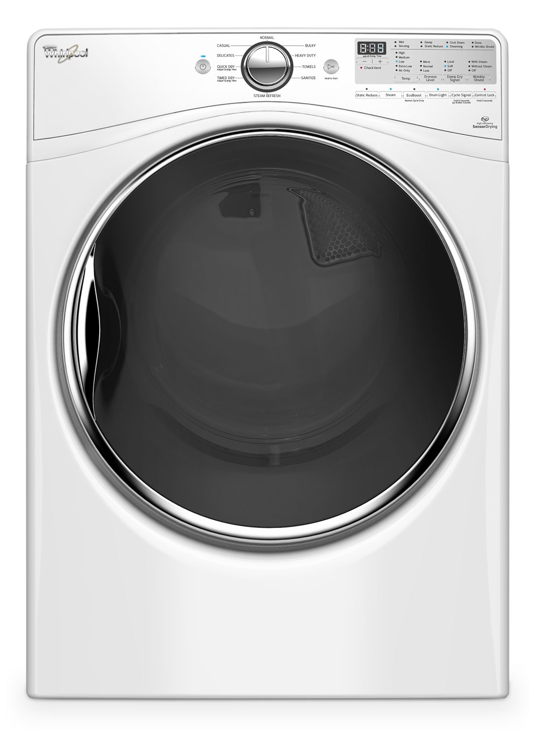 Washers and Dryers - Whirpool White Gas Dryer (7.4 Cu. Ft.) - WGD92HEFW