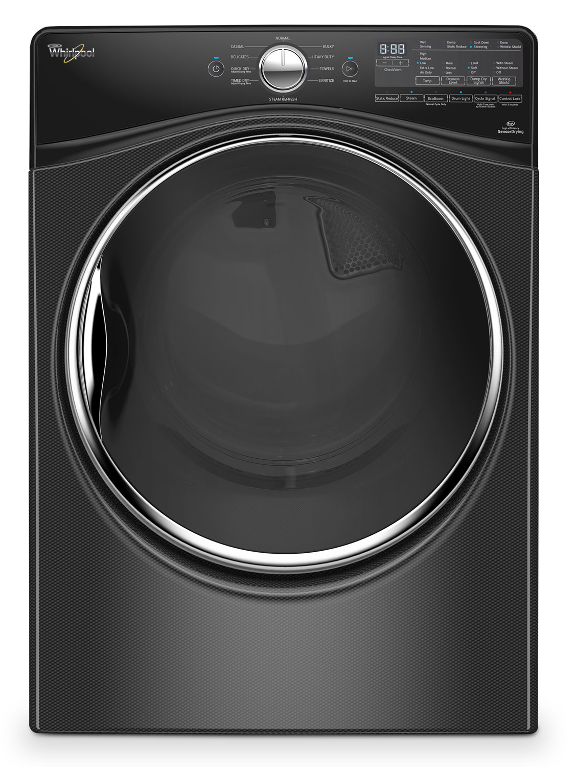 Washers and Dryers - Whirpool Black Diamond Gas Dryer (7.4 Cu. Ft.) - WGD92HEFBD